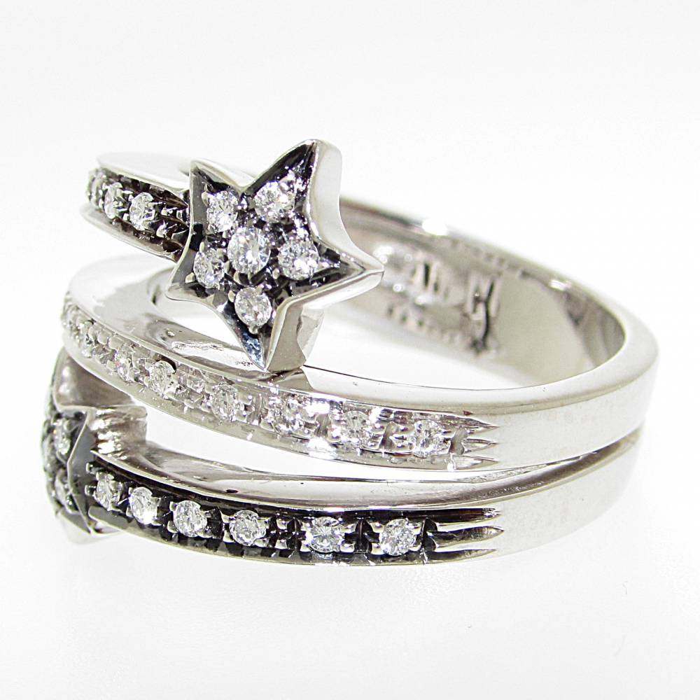Anello oro bianco brunito veretta diamanti carati 0,29 colore G purezza VVS1.