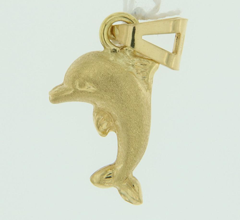 Ciondolo Delfino oro satinato