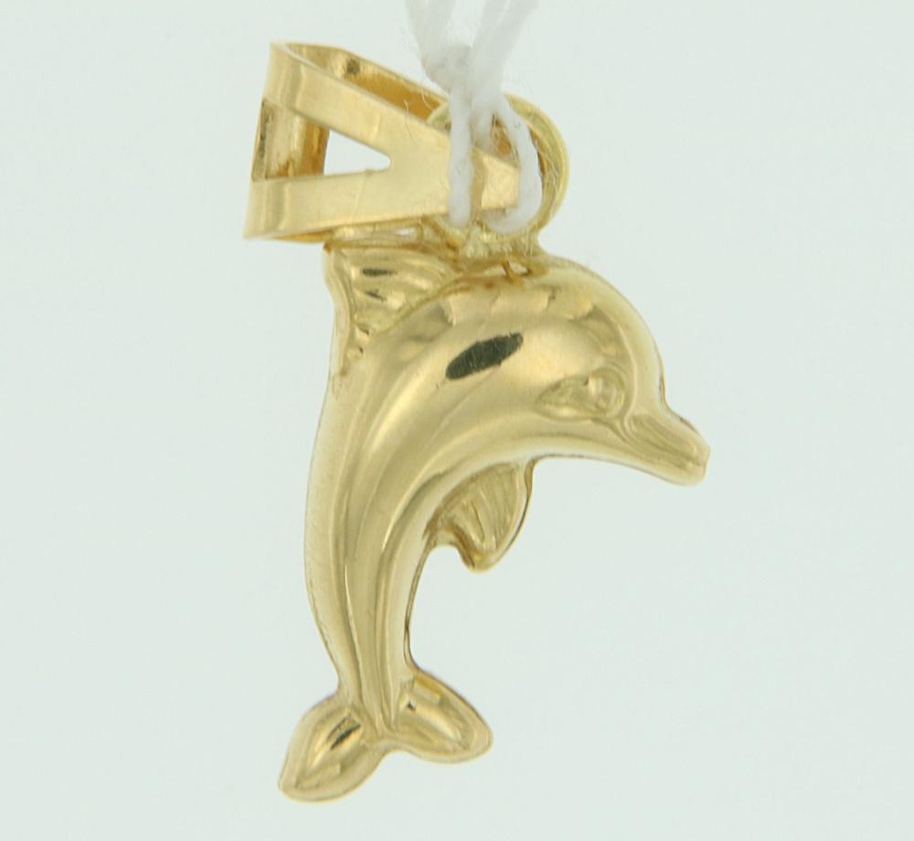 Ciondolo Delfino oro lucido