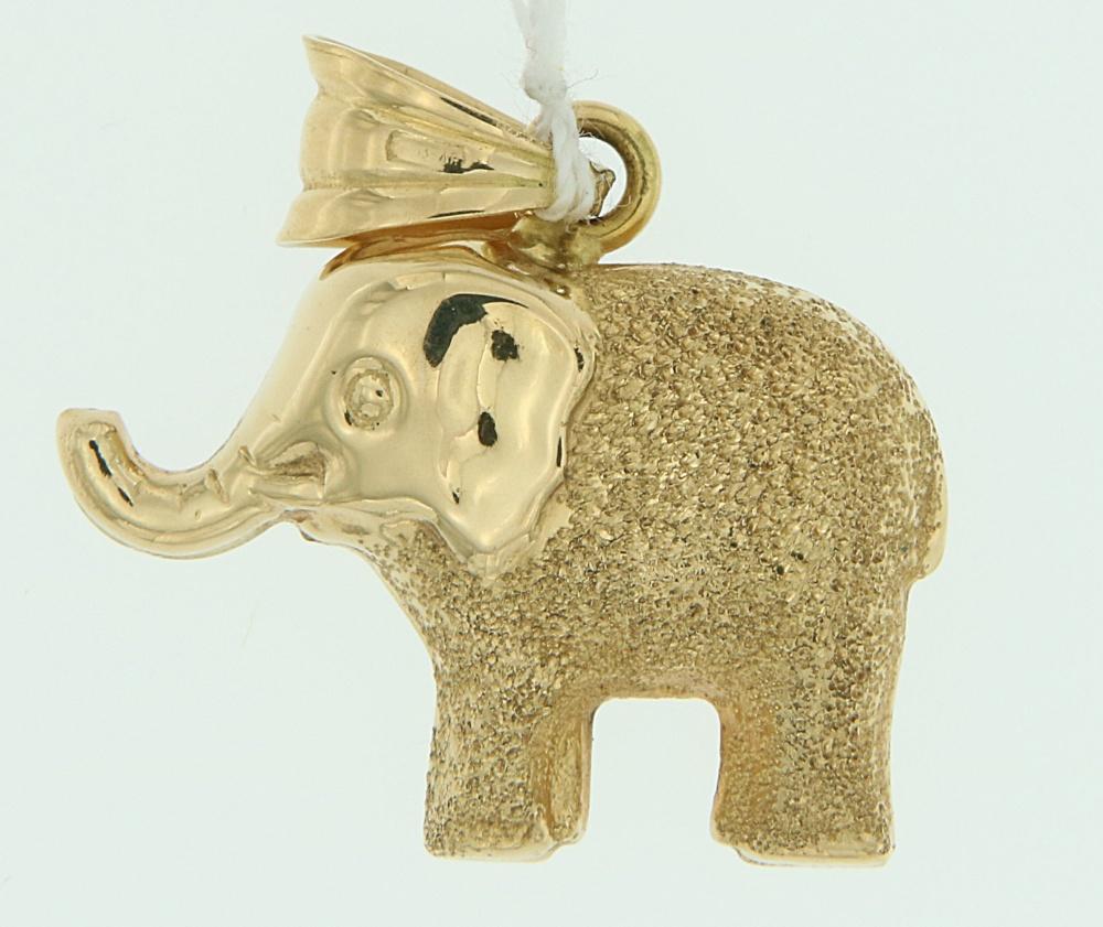 Ciondolo Elefante oro diamantato