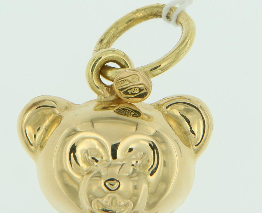 Ciondolo Orsetto oro punzone