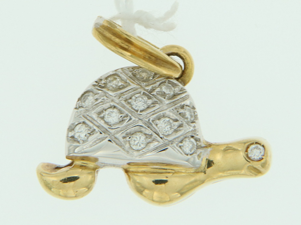 Ciondolo Tartaruga oro e diamanti